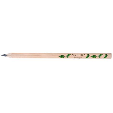 Crayon publicitaire triangulaire sans vernis - 17,6 cm