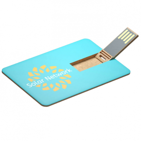 Clé USB publicitaire extra plate - Color Card ECO