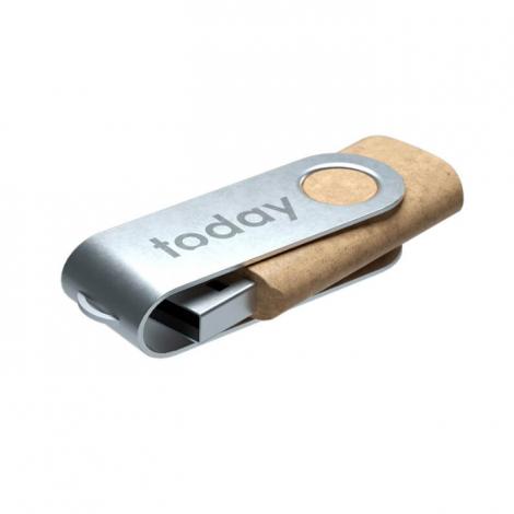 Clé USB en plastique recyclé publicitaire - Twister ECO