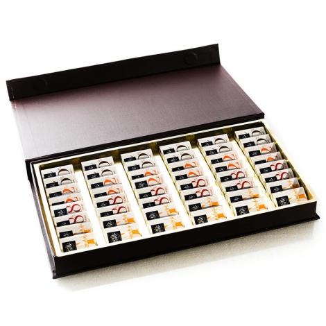Coffret carrés de chocolat publicitaire Tentation
