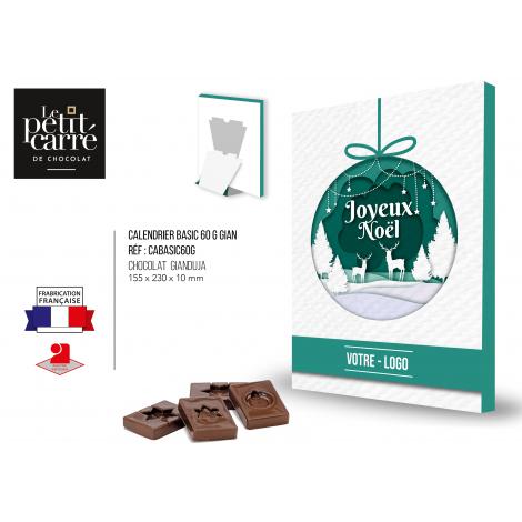 Calendrier de l'Avent personnalisé Chocolat français
