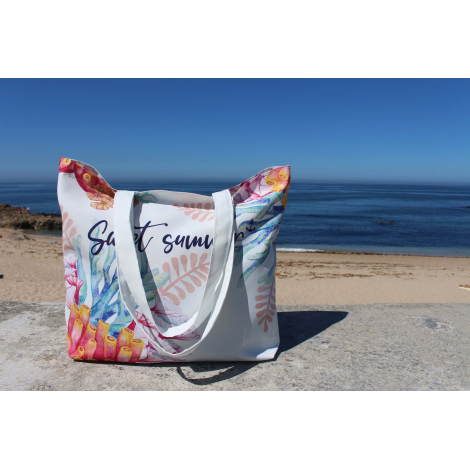 Tote bag publicitaire 55% coton recyclé et 45% Seaqual™