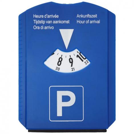 Disque de stationnement publicitaire 5 en 1