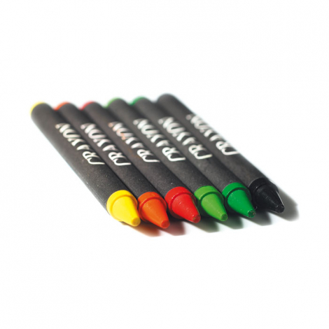 Etui 6 crayons cire publicitaire - Brabo