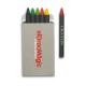 Etui 6 crayons cire Brabo