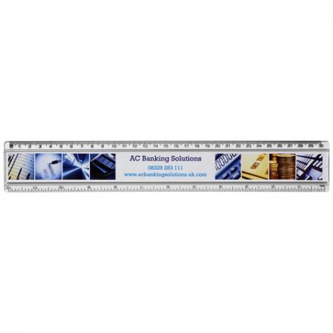 Règle publicitaire à insert 15-30 cm