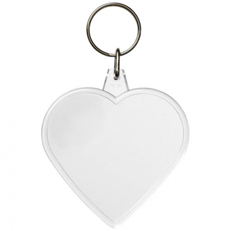 Porte-clés publicitaire en forme de coeur - Combo