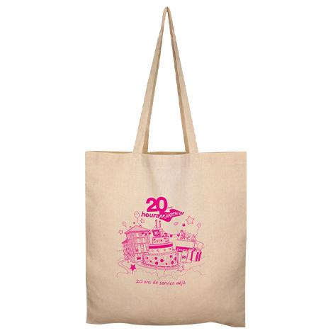 Sac shopping en coton recyclé publicitaire 150 gr - Nazik