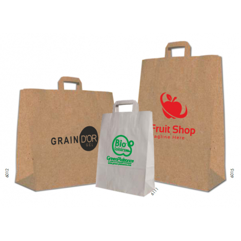 Sac shopping papier kraft - Natural