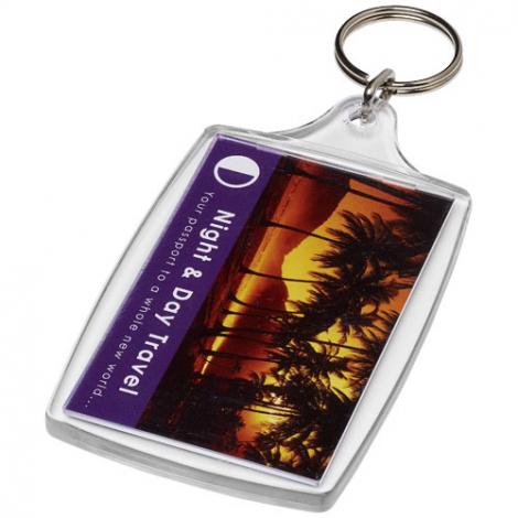 Porte-clés publicitaire large L4
