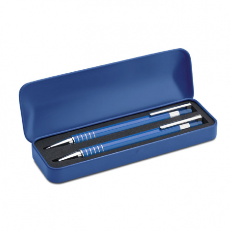 Parure publicitaire 1 stylo bille et 1 porte mine - Alucolor