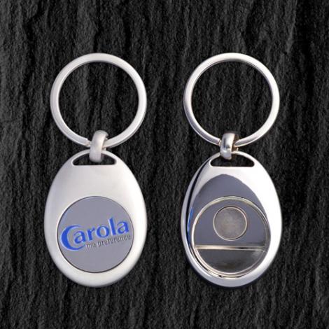 Porte-clés jeton publicitaire métal